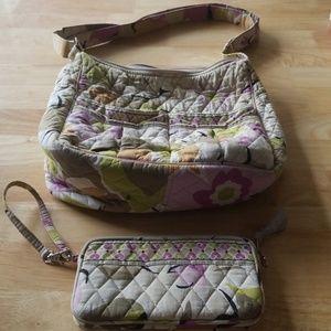 Vera Bradley clutch wallet and hobo bag